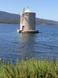Mill sur la lagune d'Orbetello